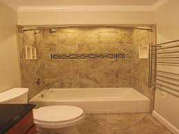 shower tub combo tile ideas white and blue ceramic tiled wall door tub bronze bar wall steel tissue holder vanity