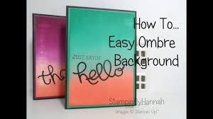 Ombre Background How To Make An Easy Ombre Background Youtube