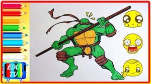 tmnt ninja turtles coloring pages learn colors coloring pages