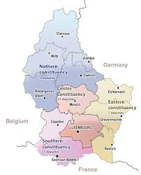 Luxembourg Map Cantons And Circonscriptions Luxembourg