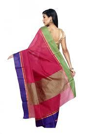 sudarshan colorful designer saree beige ajs290 mn cotton