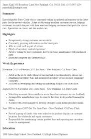 Inventory Specialist Resume Sample by Professional Parts Clerk Templates To Showcase Your Talent