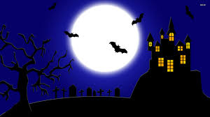 halloween background 1366x768 spooky wallpapers group 81