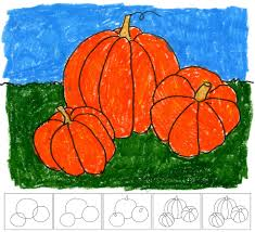 art projects for kids how to draw a pumpkin fall pumpkins