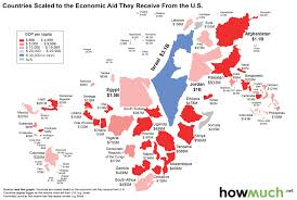 Jordan Country Map Countries Scaled To The Economic Aid They Receive From The U S