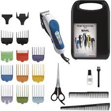 wahl color pro 20 pc color coded haircutting kit trimmers