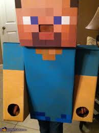 Halloween Minecraft Costume Steve Minecraft Costume Homemade Costumes Minecraft