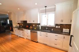 White Kitchen Cabinets With Black Granite Countertops by Kitchen Excited Kitchen Remodel Design Ideas With Modern White