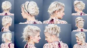 10 Easy Updo Tutorials For Short Hair Milabu Youtube