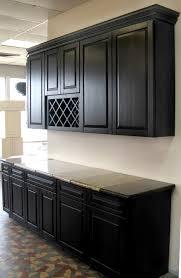 Dark Kitchen Cabinets With Backsplash Black Cabinets Granite Counter Tops The Most Impressive Home Design