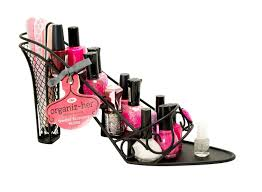 amazon com high heel stiletto shoe nail polish makeup rack metal