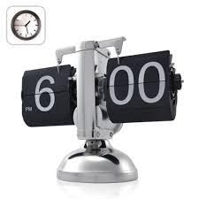 Unique Desk Clocks by Amazon Com Niceeshop Tm Retro Flip Down Clock Internal Gear