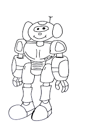 funny robot robots coloring pages for kids to print u0026 color
