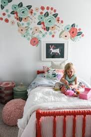 best 25 wall decals ideas on pinterest decorative wall mirrors urban walls decals in a big girl room that has fresh white walls and bedding and the perfect pops of coral peach and teal