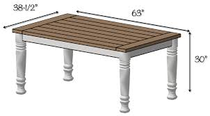Free Woodworking Plans Round Coffee Table by Diy Farmhouse Table Free Plans Rogue Engineer