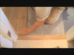 Hardwood And Laminate Flooring How To Install Flat Hardwood Floor Transition To Tile Make It Fit
