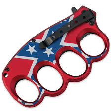 Rebel Flag Home Decor by Assisted Opening Csa Rebel Flag Knuckle Guard Folding Trench Knife
