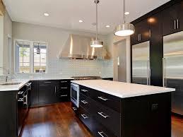 Dark Kitchen Cabinets With Backsplash Marble Countertops Kitchens With White Cabinets And Dark Floors