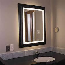Bathroom Mirror Ideas On Wall Lighted Bathroom Mirrors Wall Lighted Bathroom Mirror U2013 Afrozep