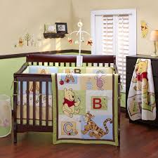 Monkey Crib Set Pooh Bear Nursery Disney Baby Pooh Abc 4 Piece Crib Bedding Set