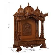 opulent design home wooden temple mandir for home simple on ideas