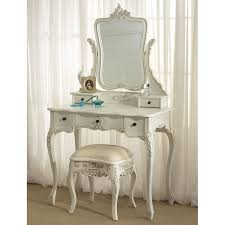 teak wood with white finished dressing table built in storage white