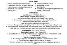 Fast Food Resume Samples by Description Resume Mcdonalds Cashier Job Description Resume Fast