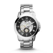 fossil black friday 2017 grant automatic stainless steel watch fossil
