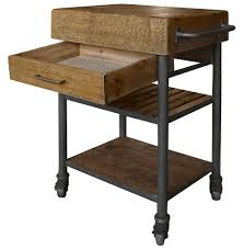 Reclaimed Kitchen Islands Kershaw Rustic Chunky Reclaimed Wood Iron Single Drawer Kitchen