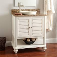 Bathroom Vanity Designs by Bathroom Single White Wooden Open Shelf Vanity And Drawers Plus