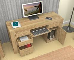 furniture wooden computer desk for home office with some drawers