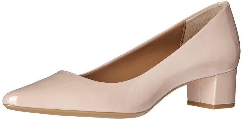 Calvin Klein Genoveva Block Heel Pumps Tan 8 M