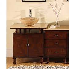 55 Inch Double Sink Bathroom Vanity by 46 5 Inch Modern Travertine Vessel Sink Bathroom Vanity With Extra