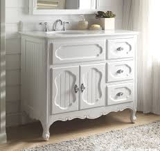 42 inch bathroom vanity cottage beadboard style white color 42