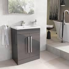 newton floor standing bathroom vanity unit anthracite grey ceramic