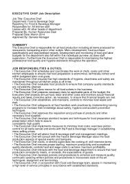 executive chef resume examples 100 ideas kitchen duties and responsibilities on www weboolu com executive chef job description