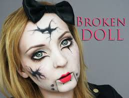 broken doll halloween costume broken doll make up transformation youtube