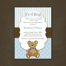 printable baby shower invitations for boys boy teddy bear baby shower invitation printable file 12 00 via