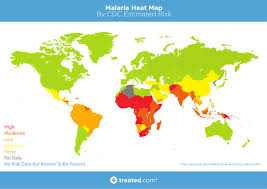 Somalia World Map by Our Malaria World Map Of Estimated Risk