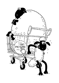 the sheep coloring pages for kids printable free