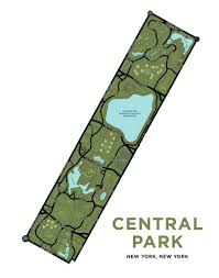 Central Park New York Map by Central Park Map Print U2013 Jelly Brothers