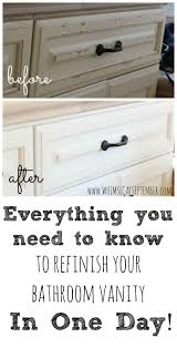 diy refinished bathroom vanities with chalk paint refinish