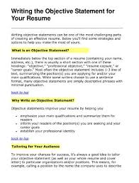 resume template a good resume objective resume template how to a     Occultisme tk