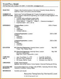 Ms Word Sample Resume by Resume Template Sample Two Page Example Samples For One Examples