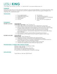 Personal Trainer Resume Example No Experience by Best Yoga Instructor Resume Example Livecareer