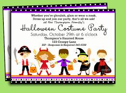 Halloween Free Printable Invitations Halloween Kids Costume Party Invitation Printable Or Printed