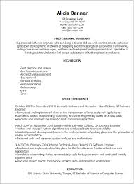 Resume Samples For Experienced Mechanical Engineers by Professional Software Engineer Resume Templates To Showcase Your