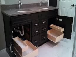 bathroom cabinets under sink drawer pull out kitchen shelves