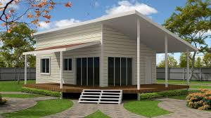 cream white and timber colorbond and fibro cladding pole homes
