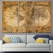 World Map Canvas by Online Buy Wholesale 3 Piece World Map Canvas From China 3 Piece